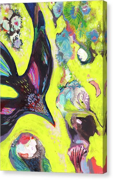A Crows Dream - Ss18dw019 Canvas Print by Satomi Sugimoto