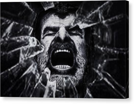 Emotional Canvas Print - A Cry From The Dark Side by Piet Flour