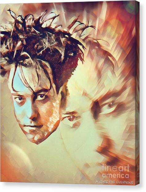 Robert Smith Music Canvas Print - A Cure For Everyone - Robert Smith by Robert Radmore