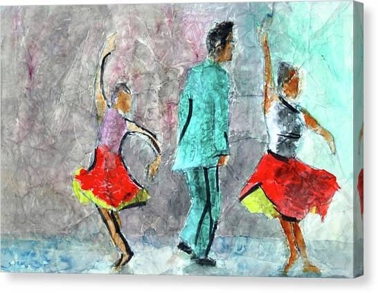 A Dance For Three Canvas Print by Donna Crosby