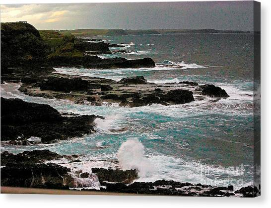 A Dangerous Coastline Canvas Print