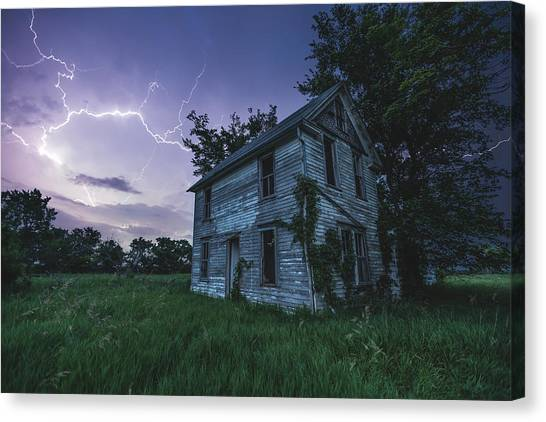Pluto Canvas Print - A Dark And Stormy Place by Aaron J Groen