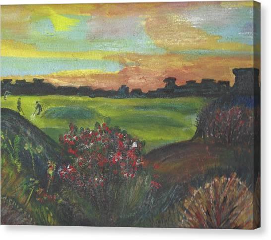 Canvas Print - A Day For Golfing At Cypress Creek by Anne-elizabeth Whiteway