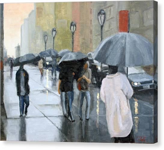 A Day For Umbrellas Canvas Print
