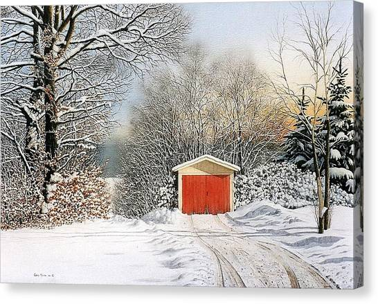A Day In December Canvas Print by Conrad Mieschke