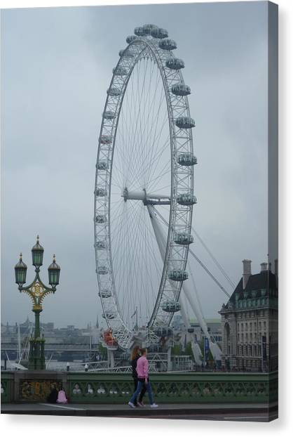 London Skyline Canvas Print - A Day In London by Tjokez Vun Borg