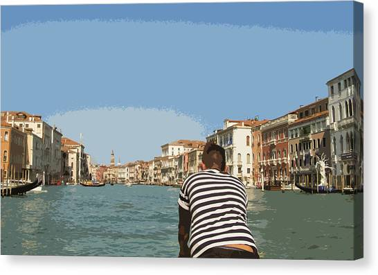 A Day In Venice Canvas Print