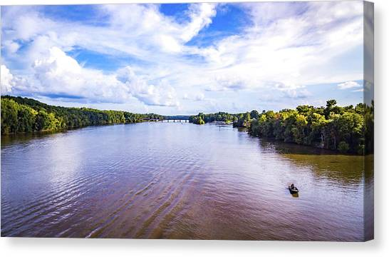 A Day On The River Canvas Print