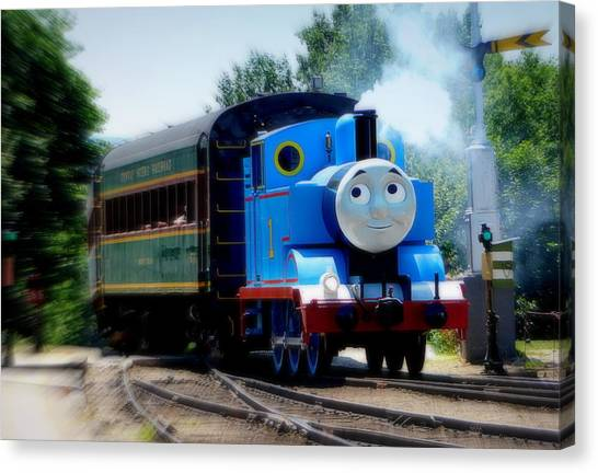 Thomas The Train Canvas Print - A Day Out With Thomas by Karen Cook