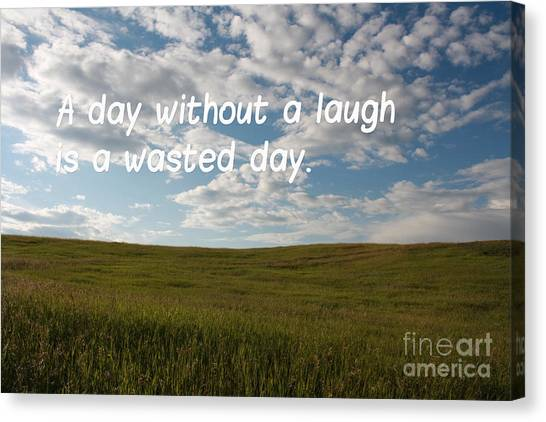 Canvas Print featuring the mixed media A Day Without A Laugh by Wilko Van de Kamp