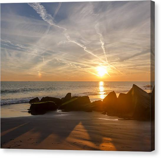 A Days End  Canvas Print