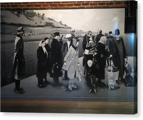 Holocaust Museum Canvas Print - A Deportation Scene by Christopher Kull