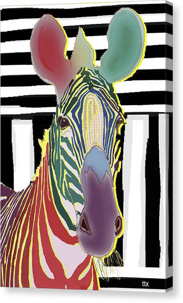A Different Zebra Canvas Print