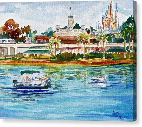 Disney Canvas Print - A Disney Sort Of Day by Laura Bird Miller
