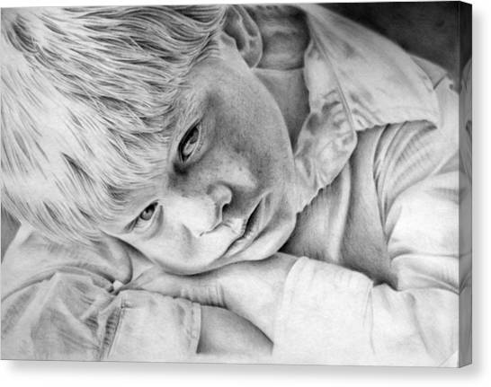 A Doleful Child Canvas Print