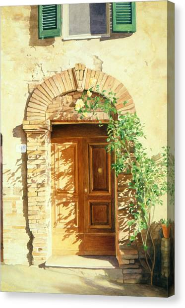 A Doorway In Tuscany Canvas Print