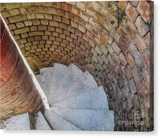 A Downward Spiral In Time Canvas Print