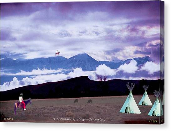 A Dream Of High Country Canvas Print