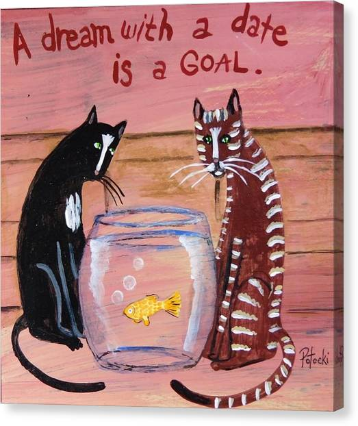 A Dream With A Date Is A Goal Canvas Print