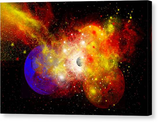 Remnants Canvas Print - A Dying Star Turns Nova As It Blows by Mark Stevenson