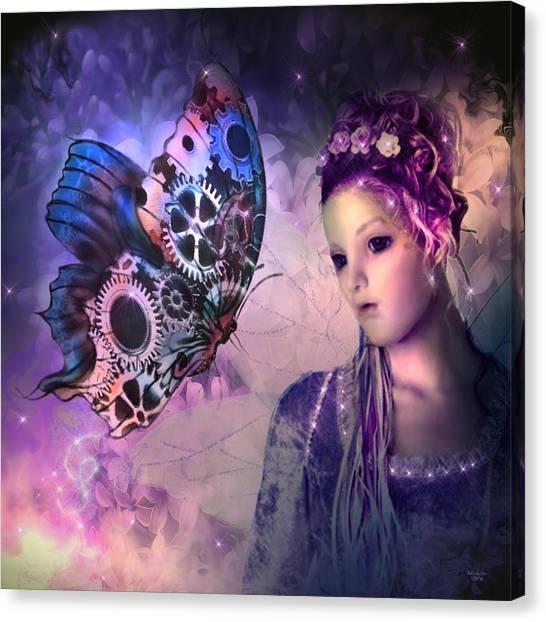 A Fairy Butterfly Kiss Canvas Print