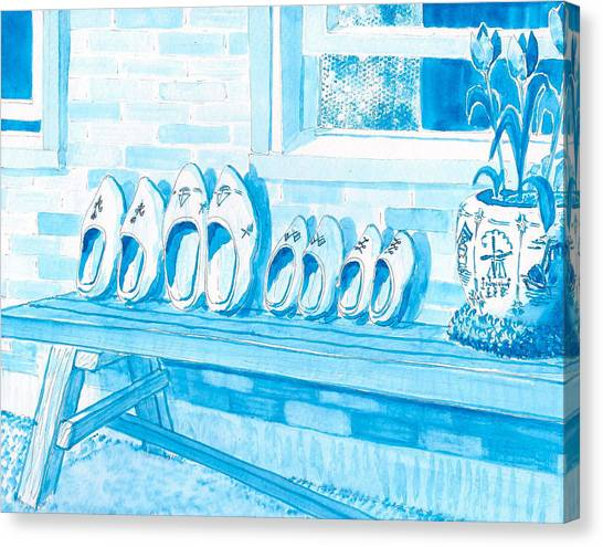 A Family Of Wooden Shoes  Canvas Print