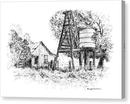 A Farm In Schroeder Canvas Print