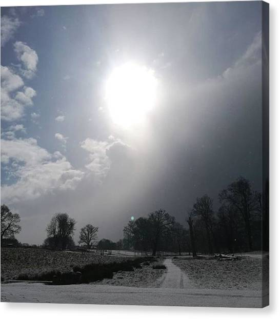 Warwickshire Canvas Print - A Few From Today. #snow #storm by John S