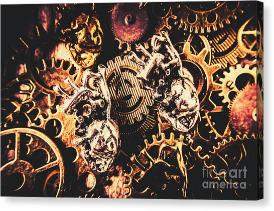 Steampunk Canvas Print - A Fiction In Machine Love by Jorgo Photography - Wall Art Gallery