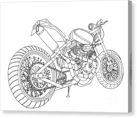 Street Fighter Canvas Print - A Fine Line In Motorcycles by Stephen Brooks