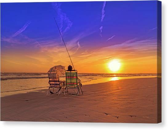 Fishing Poles Canvas Print - A Fisherman's Life by Betsy Knapp