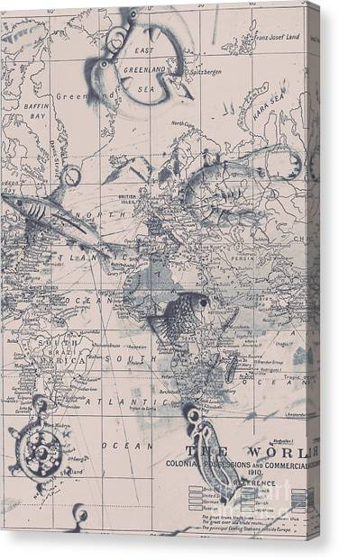 Old World Canvas Print - A Fishermans Map by Jorgo Photography - Wall Art Gallery