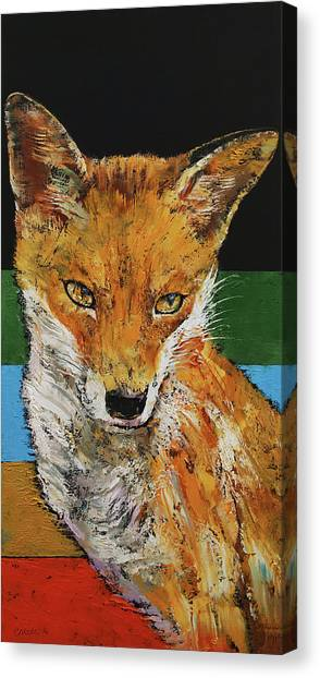 Sly Canvas Print - Red Fox by Michael Creese