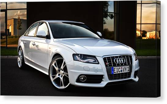 Audi Canvas Print - A Friend's Best Friend by Marcel Kaiser