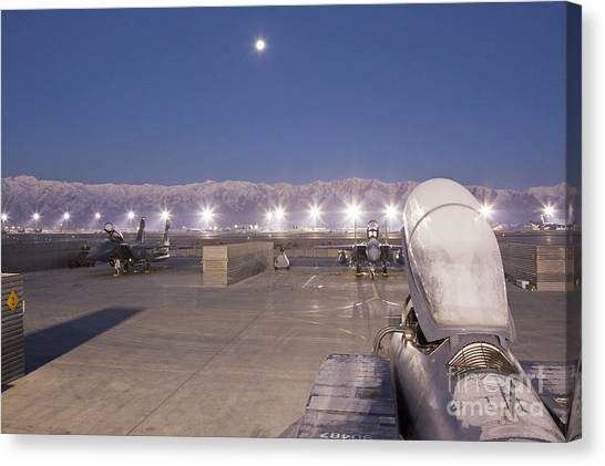A Frosty Fighter Morning Canvas Print by Tim Grams