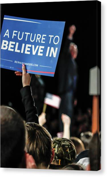Bernie Sanders Canvas Print - A Future To Believe In by Nick Mattea