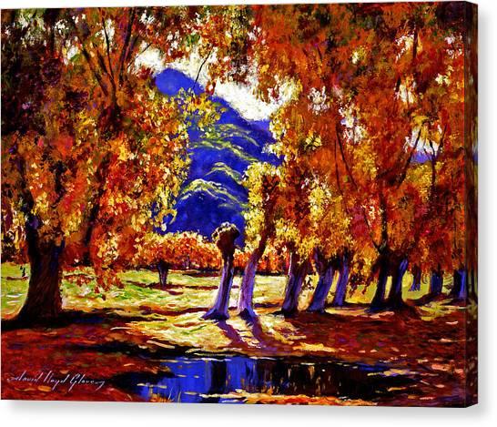 A Galaxy Of Autumn Color Canvas Print by David Lloyd Glover