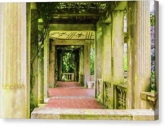 A Garden House Entryway. Canvas Print