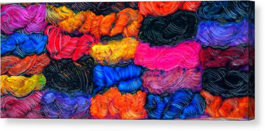 A Garden Of Yarn Canvas Print