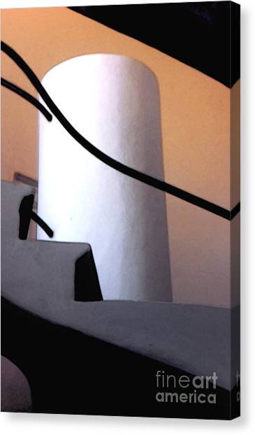 A Gaudi Staircase Canvas Print by Linda  Parker