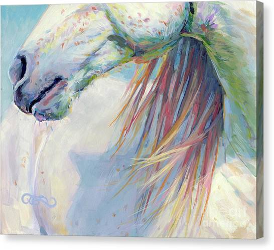 Lavendar Canvas Print - A Gentle Breeze by Kimberly Santini