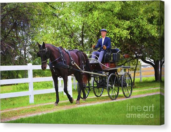 A Gentleman's Sunday Ride Canvas Print