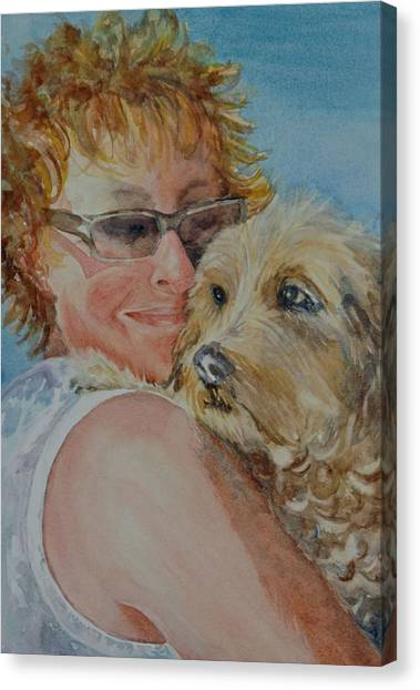 A Girl's Best Friend Canvas Print by Diane Fujimoto