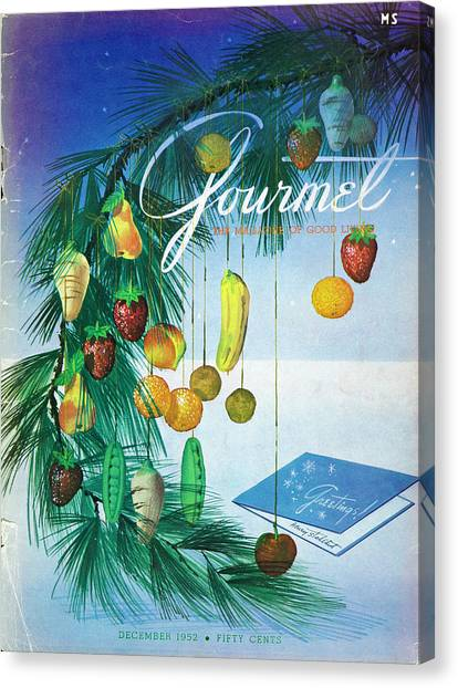 A Gourmet Cover Of Marzipan Fruit Canvas Print