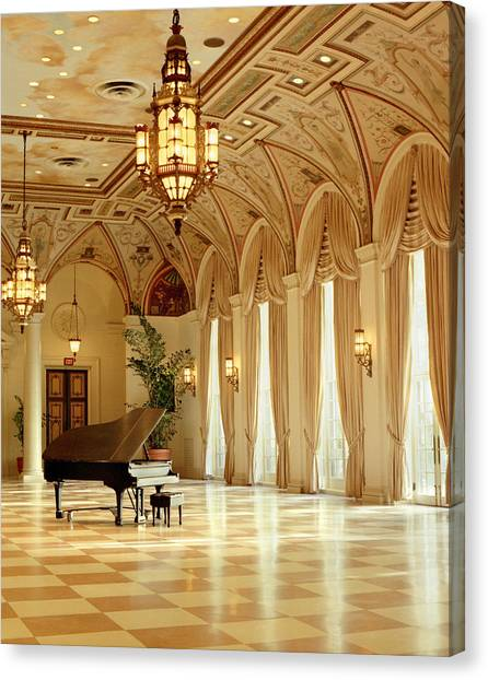 A Grand Piano Canvas Print