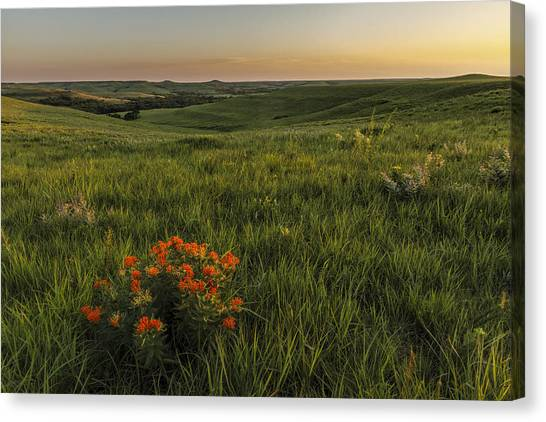 A Great View Of The Flint Hills Canvas Print