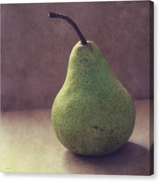 Kitchen Canvas Print - A Green Pear- Art By Linda Woods by Linda Woods