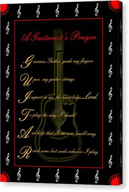 A Guitarist Prayer_2 Canvas Print by Joe Greenidge
