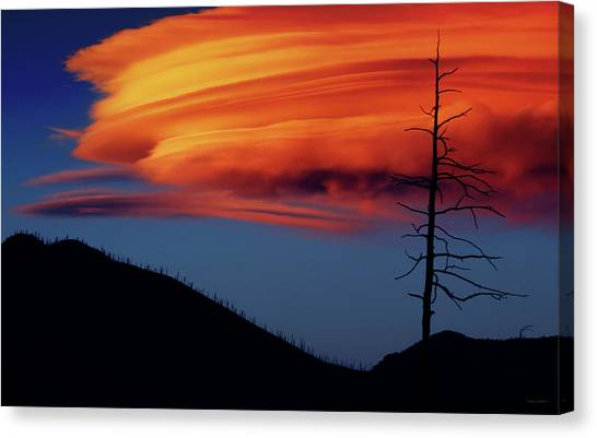 A Haunting Sunset Canvas Print
