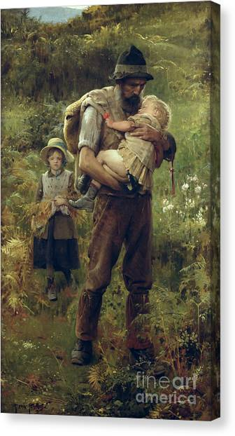 Woodsmen Canvas Print - A Heavy Burden by Arthur Hacker